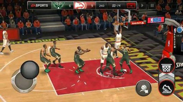 nba live mobile-shoot at the goal